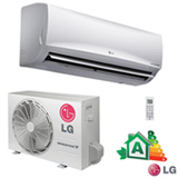 Ar Condicionado Split Hi-Wall LG Smart Inverter com 9.000 BTUs, Quente e Frio, Turbo,  Branco - US-W092WSG3