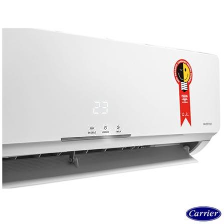 Ar Condicionado Split Carrier Inverter com 9.000 BTUs Frio Turbo Branco - 42FVCA09C5, 220V, Branco, Split, 9.000 BTUs, 9.000 a 11.500 BTUs, Frio, 756 W, A, 03 meses, Multi-Ar