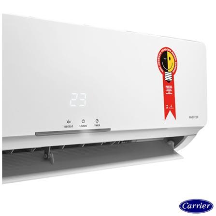 Ar Condicionado Split Carrier Inverter Novo X-Power com 9.000 BTUs Quente e Frio Turbo Branco - 42FVQA09C5, 220V, Branco, Split, 9.000 BTUs, 9.000 a 11.500 BTUs, Quente e Frio, 756 W e 783 W, A, 03 meses, Multi-Ar