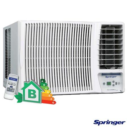 Ar Condicionado Janela Springer Minimaxi com 12.000 BTUs Frio Turbo Branco - MCE125RB, 220V, Branco, Janela, 12.000 BTUs, 12.000 a 18.500 BTUs, Frio, 1165 W, B, 03 meses, Multi-Ar