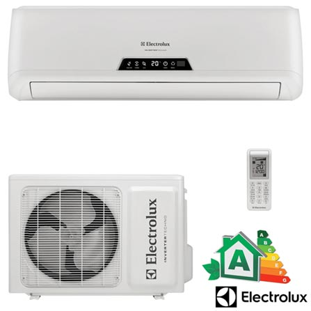 Ar Condicionado Split Hi-Wall Electrolux Inverter com 22.000 BTUs Quente e Frio Turbo Branco - BI22R, 220V, Branco, Split, 22.000 BTUs, Frio, 2010 W, A, 03 meses, Multi-Ar