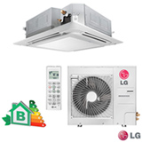 Ar Condicionado Split Cassete LG Inverter com 35.000 BTUs Frio Turbo Branco - AT-Q36GPLE5