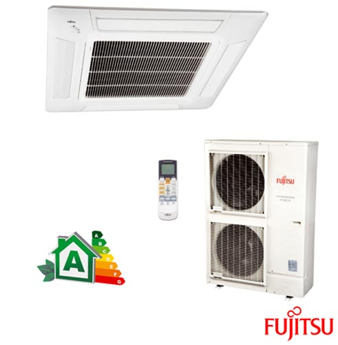 Ar Condicionado Split Fujitsu Cassete Inverter com 42.000 BTUs, Quente e Frio, Branco - AUBG45LRLA/AOBG45LBTA, 220V, Branco, Split, 42.000 BTUs, Acima de 23.500 BTUs, Quente e Frio, 3800 W e 3700 W, A, 03 meses, Multi-Ar