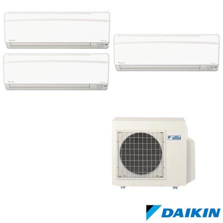 Ar Condicionado Daikin Advance com 1x9000+1x12000+1x18000 BTUs Quente e Frio - FTXS25KVM/FTXS35KVM/FTXS50KVM/3MXS68KVM, 220V, Branco, Split, Quente e Frio, 2230 W e 2080 W, A, 03 meses, Multi-Ar