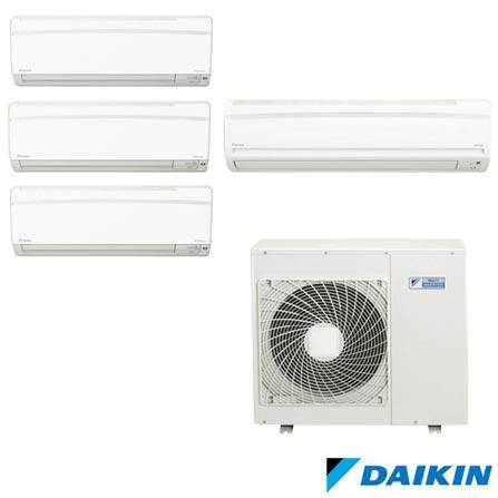 Ar Condicionado Multi Split Daikin Advance com 3x9000+1x18000 BTUs, Quente e Frio, Branco - FTXS25KVM/FTXS50KVM/MXS80KVM, 220V, Branco, Split, Quente e Frio, 3250 W e 2720 W, A, 03 meses, Multi-Ar