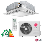 Ar Condicionado Split LG Cassete Inverter com 17.000 BTUs Frio Turbo Branco - AT-Q18GPLE5