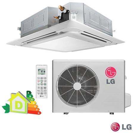 Ar Condicionado Split LG Cassete com 28.000 BTUs Quente e Frio Turbo Branco - LT-H282PLE1, 220V, Branco, Split, 28.000 BTUs, Acima de 23.500 BTUs, Quente e Frio, 3145 W e 2820 W, D, 03 meses, Multi-Ar