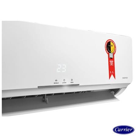 Ar Condicionado Split Carrier Hi-Wall Novo X-Power Inverter com 12.000 BTUs Frio Branco - 42FVCA12C5/38FVCA12C5, 220V, Branco, Split, 12.000 BTUs, 12.000 a 18.500 BTUs, Frio, 1053 W, A, 03 meses, Multi-Ar