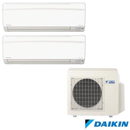 Ar Condicionado Multi Split Daikin Advance Inverter com 1x21000 + 1x24000 BTUs Quente e Frio Turbo Branco - FTXS, 220V, Branco, Split, Quente e Frio, 2590 W e 2450 W, A, 03 meses, Multi-Ar