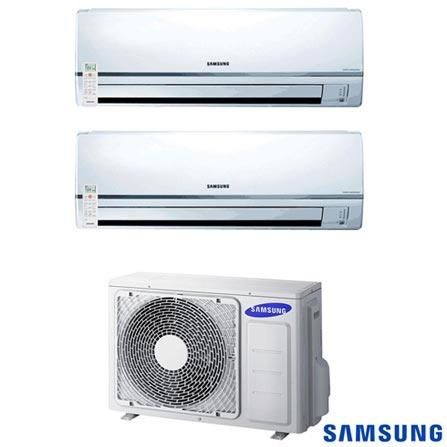 Ar Condicionado Free Joint Multi Samsung Inverter com 2 x 11.900 BTUs, Quente e Frio, Branco - MH035FNBA, 220V, Branco, Split, 11.900 BTUs, 12.000 a 18.500 BTUs, Quente e Frio, 1320 W e 1350 W, 12 meses, Multi-Ar