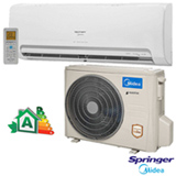 Ar Condicionado Split Hi-Wall Springer Midea Inverter com 9.000 BTUs, Frio, Turbo, Branco