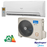 Ar Condicionado Split Hi-Wall Inverter Springer Midea com 12.000 BTUs, Turbo, Quente e Frio, Branco