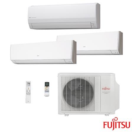 Ar Condicionado Multi-Split Inverter Fujitsu 1x 9.000 + 1x 12.000 BTUs + 1x 24.000 Quente e Frio, Branco, 220V, Branco, Split, 9.000 BTUs, 9.000 a 11.500 BTUs, Quente e Frio, 3580 W, A, 12 meses, Multi-Ar