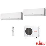 Ar Condicionado Multi Split Fujitsu Inverter com 1 x 7.000 + 1 x 12.000 BTUs, Quente e Frio, Branco - ASBG07LMCABR