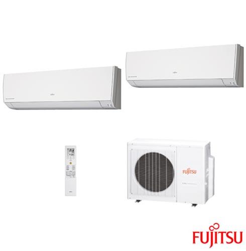 Ar Condicionado Multi Split Fujitsu Inverter com 1 x 7.000 + 1 x 12.000 BTUs, Quente e Frio, Branco - ASBG07LMCABR, 220V, Branco, Split, 7.000 BTUs, 5.000 a 8.500 BTUs, Quente e Frio, 2060 W, A, 03 meses, Multi-Ar