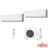 Ar Condicionado Multi Split Fujitsu Inverter com 2x 12.000 BTUs, Quente e Frio, Turbo Mode,  Branco - ASBG12LMCA-BR