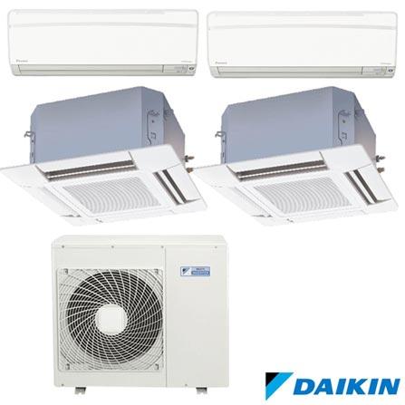 Ar Condicionado Multi Split Daikin Advance 2 x 9.000 + Cassete 4 Vias 2 x 18.000 BTUs, Quente e Frio, Branco - FTXS25KVM, 220V, Branco, Split, 9.000 BTUs, 9.000 a 11.500 BTUs, Quente e Frio, 3200 W e 2500 W, A, 03 meses, Multi-Ar