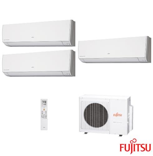 Ar Condicionado Multi Split Fujitsu Inverter com 1 x 7.000 + 2 x 12.000 BTUs, Quente e Frio,  Branco - ASBG07LMCA-BR, 220V, Branco, Split, 7.500 BTUs, 5.000 a 8.500 BTUs, Quente e Frio, 2870 W e 2830 W, A, 03 meses, Multi-Ar