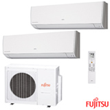 Ar Condicionado Multi-Split Inverter Fujitsu 1x 9.000 + 1x 12.000 BTUs Quente e Frio, Branco - ASBG09LMCA-BR