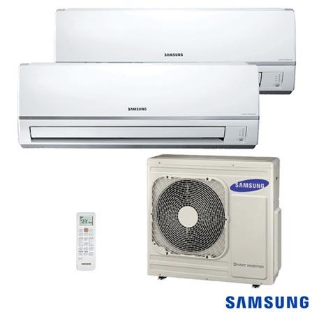 Ar Condicionado Split Free Joint Multi Samsung Inverter com 1 x 11.900 + 1 x 17.700 BTUs,  Quente e Frio, Branco, 220V, Branco, Split, 11.900 BTUs, 12.000 a 18.500 BTUs, Quente e Frio, 1600 W a 1400 W, A, 12 meses, Multi-Ar