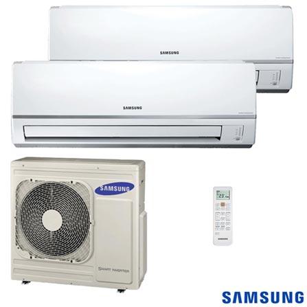 Ar Condicionado Split Free Joint Multi Samsung Inverter com 2 x 8.900 BTUs, Quente e Frio, Turbo, Branco - MH026FNBA, 220V, Branco, Split, 8.900 BTUs, 9.000 a 11.500 BTUs, Quente e Frio, 1600 W a 1400 W, A, 12 meses, Multi-Ar