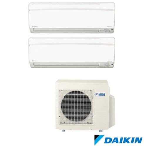 Ar Condicionado Multi Split Daikin Advance Inverter com 2 x 9.000 BTUs, Quente e Frio, Branco - FTXS25KVM, 220V, Branco, Split, 9.000 BTUs, 9.000 a 11.500 BTUs, Quente e Frio, 1550 W a 1930 W, A, 03 meses, Multi-Ar