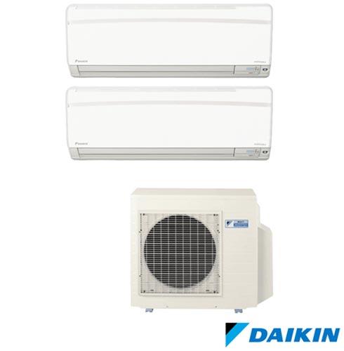 Ar Condicionado Multi Split Daikin Advance Inverter com 2 x 9.000 BTUs, Quente e Frio, Turbo, Branco - FTXS25KVM, 220V, Branco, Split, 9.000 BTUs, 9.000 a 11.500 BTUs, Quente e Frio, 2440 W e 2410 W, A, 03 meses, Multi-Ar