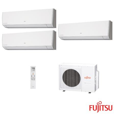 Ar Condicionado Multi Split Inverter Fujitsu com 2 x 9.000 + 1 x 12.000 BTUs, Quente e Frio, Turbo, Branco, 220V, Branco, Split, 9.000 BTUs, 9.000 a 11.500 BTUs, Quente e Frio, 2870 W e 2830 W, A, 03 meses, Multi-Ar