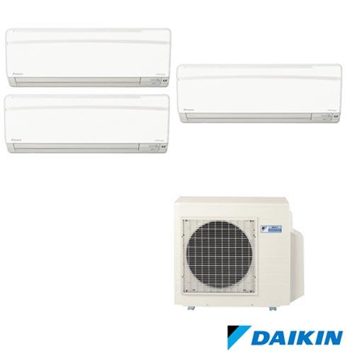 Ar Condicionado Multi Split Daikin Advance Inverter com 2 x 9.000 + 1 x 18.000 BTUs, Quente e Frio, Branco - FTXS25KVM, 220V, Branco, Split, 9.000 BTUs, 9.000 a 11.500 BTUs, Quente e Frio, 2050 W e 2080 W, A, 03 meses, Multi-Ar