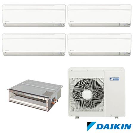 Ar Condicionado Multi Split Daikin Advance Inverter 3 x 9.000 + 1 x 12.000 + Duto 12.000 BTUs, Quente e Frio, Branco, 220V, Branco, Split, 9.000 BTUs, 9.000 a 11.500 BTUs, Quente e Frio, 3190 W e 3070 W, A, 03 meses, Multi-Ar