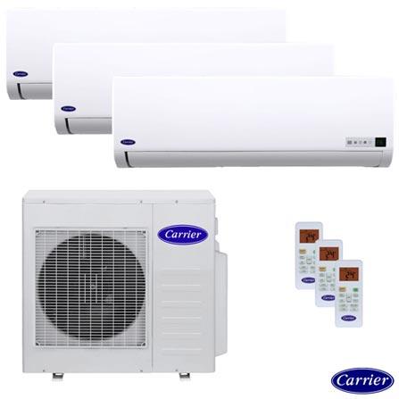 Ar Condicionado Multisplit Inverter Carrier 1x 9.000 + 1x 12.000 + 1x 18.000 BTUs Quente/Frio, 220V, Branco, Split, 9.000 BTUs, 9.000 a 11.500 BTUs, Quente e Frio, Não especificado, 24 meses, Multi-Ar