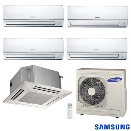 Ar Condicionado Free Joint Multi Samsung Inverter 4x 8.900 + Cassete 4 Vias 1x 17.700 BTUs Quente/Frio, 220V, Branco, Split, 8.900 BTUs, 9.000 a 11.500 BTUs, Quente e Frio, Não especificado, 03 meses, Multi-Ar