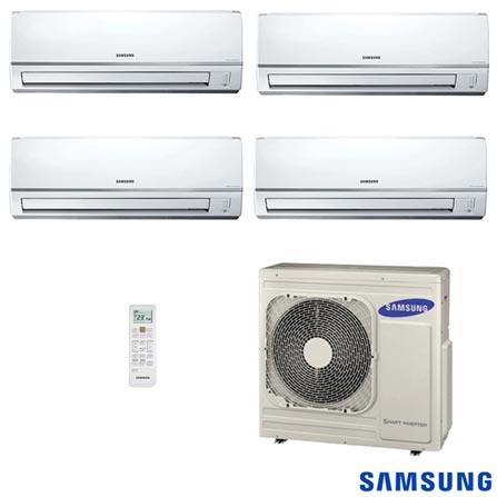 Ar Condicionado Free Joint Multi Samsung Inverter 3x 6.800 BTUs + 1x 17.700 BTUs Quente/Frio, 220V, Branco, Split, 6.800 BTUS, 5.000 a 8.500 BTUs, Quente e Frio, Não especificado, 12 meses, Multi-Ar