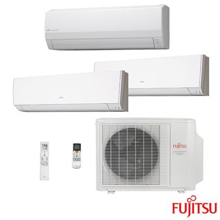 Ar Condicionado Multi-Split Inverter Fujitsu 2x 12.000 + 1x 24.000 BTUs Quente/Frio, 220V, Branco, Split, 12.000 BTUs, 12.000 a 18.500 BTUs, Quente e Frio, 2710 W e 2420 W, 03 meses, Multi-Ar