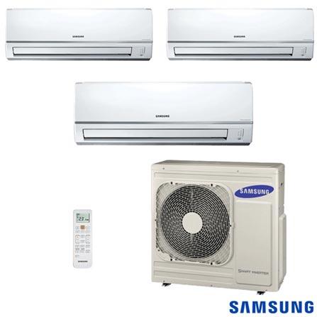 Ar Condicionado Free Joint Multi Samsung Inverter 3x 11.900 BTUs Quente/Frio, 220V, Branco, Split, 11.900 BTUs, 12.000 a 18.500 BTUs, Quente e Frio, Não especificado, 12 meses, Multi-Ar