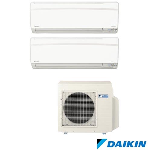Ar Condicionado Multi Split Daikin Advance Inverter com 2 x 18.000 BTUs, Quente e Frio, Turbo, Branco - FTXS50KVM, 220V, Branco, Split, 18.000 BTUs, 12.000 a 18.500 BTUs, Quente e Frio, 2190 W e 2240 W, A, 03 meses, Multi-Ar