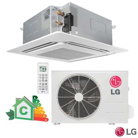 Ar Condicionado Split Cassete LG com 18.000 BTUs, Quente e Frio, Branco - LT-H182QLE0, 220V, Branco, Split, 18.000 BTUs, 12.000 a 18.500 BTUs, Quente e Frio, 1860 W a 1830 W, C, 12 meses, Multi-Ar