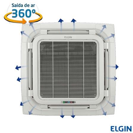 Ar Condicionado Split Cassete Elgin Eco com 60.000 BTUs, Frio, Turbo, Branco - KEFI60B2NA, 220V, Branco, Split, 60.000 BTUs, Acima de 23.500 BTUs, Frio, 5580 W, B, 03 meses, Multi-Ar