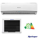 Ar Condicionado Split Springer Window com 9.000 BTUs, Frio, Turbo, Branco