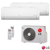 Ar Condicionado Multi Split Inverter LG com 1 x 8.500 BTUs + 1 x 11.900 BTUs, Quente e Frio, Turbo,  Branco