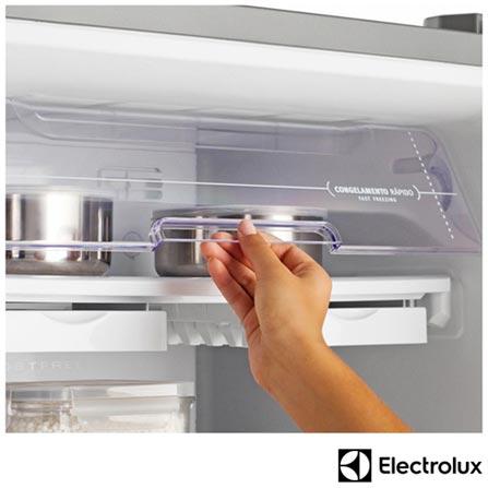 Refrigerador de 02 Portas Electrolux Frost Free com 310 Litros com Painel Digital Inox – DF36X, 110V, Inox, 02 Portas, 02 Portas, De 351 a 500 litros, 12 meses, Electrolux