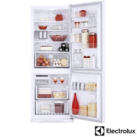 Refrigerador Bottom Freezer Electrolux de 02 Portas Frost Free com 454 Litros Ice Twister Branco - DB52, 110V, Branco, 02 Portas, 02 Portas, De 351 a 500 litros, 12 meses, Electrolux