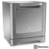 Lava-Louças Electrolux com 08 Serviços, 06 Programas de Lavagem e Painel Blue Touch Prata - LE08S