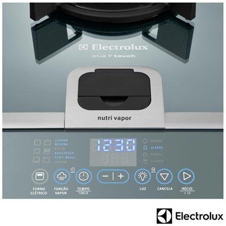 Fogão de Piso de 5 Bocas Electrolux Blue Touch, Super Automático, Grill, Timer Sonoro,  Inox-76DVX, 110V, Inox, 12 meses, Electrolux, Piso, 05 Bocas, Inox