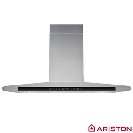 Coifa de Parede Ariston 90 cm com 03 Velocidades, Display Touch Control e Timer Digital Inox - HLC9-8 ATI X, 110V, Inox, Aço, 7,56 kWh/24h, Parede, 12 meses, A, Spicy