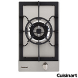 Cooktop Domino a Gas Cuisinart Prime Cooking com Acendimento Manual em Aco Inox com 01 Boca - PFA320SX-E