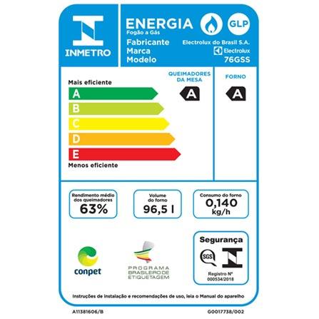 , Bivolt, Bivolt, Prata, Piso, a Gás, GLP, 05 Bocas, Automático, Não especificado, Mecânico, 01, 96,5 L, Sim, Não, Não, 0,14 kWh, 12 meses