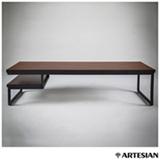 Mesa de Centro Artesian em Aço Ébano - M5086