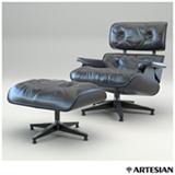 Poltrona Lounge Chair em Couro Preto - Charles e Ray Eames