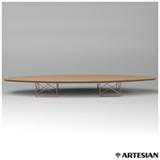 Mesa de Centro Surf Table com Estrutura em Cobre e Tampo Carvalho Americano - Charles e Ray Eames